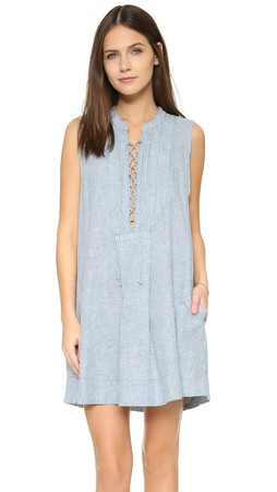 Free People Editor Mini Dress - Chambray