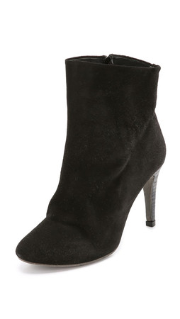 Free People Fairfax Suede Booties - Black