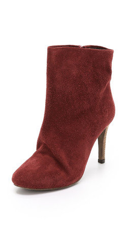 Free People Fairfax Suede Booties - Rust