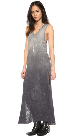Free People Galaxy Maxi Dress - Black Combo