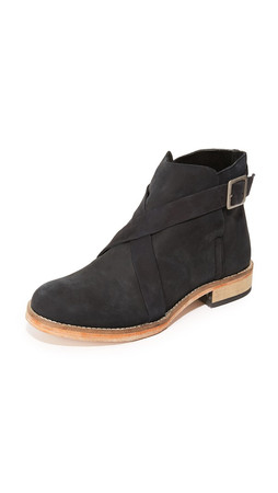 Free People Las Palmas Ankle Booties - Black