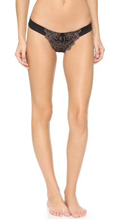 Free People Make Your Point Thong - Black