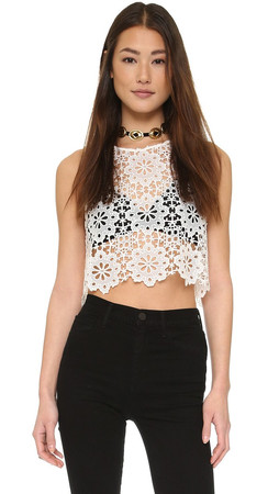 Free People Modern Crochet Top - Ivory