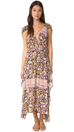 Free People Petra Maxi Dress - Purple Combo