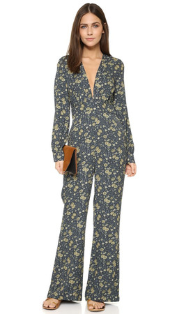 Free People Some Like It Hot Jumpsuit - Midnight Combo