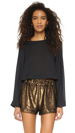 Free People Stars Aligned Top - Black