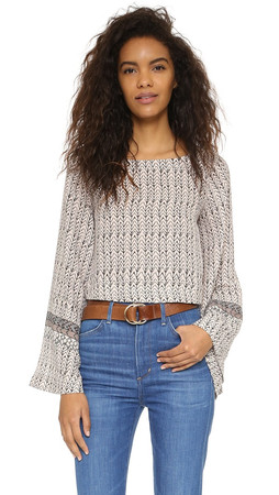 Free People Stars Aligned Top - Stone Combo