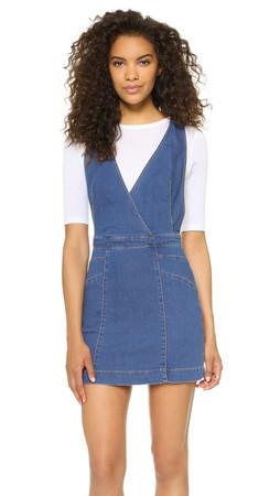 Free People Xx Mini Dress - Denim Blue