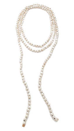 Ginette_Ny Natural Freshwater Pearl Sautoir Necklace - Pearl/Rose Gold