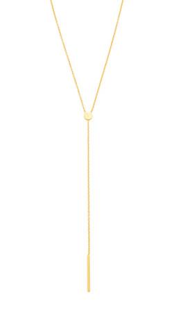 Gorjana Alphabet Lariat Necklace - M