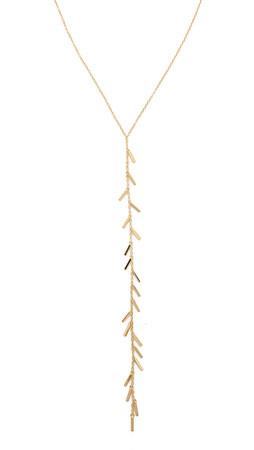 Gorjana Cameron Fringe Lariat Necklace - Gold