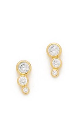 Gorjana Candice Shimmer Stud Earrings - Gold/Clear