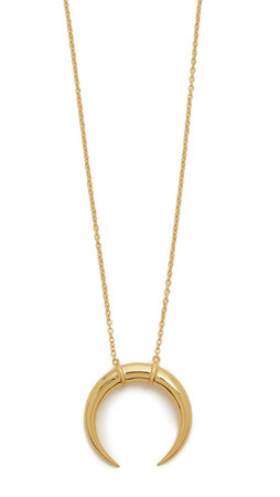 Gorjana Cayne Crescent Pendant Necklace - Gold