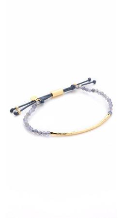 Gorjana Power Gemstone Bracelet For Courage - Blue/Gold