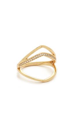 Gorjana Cress Shimmer Split Ring - Gold/Clear