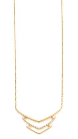 Gorjana Cress Shimmer Tiered Necklace - Gold/Clear