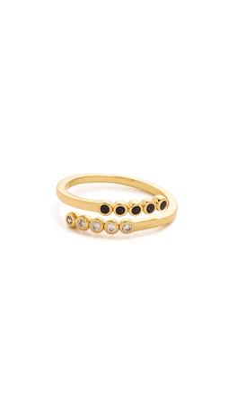 Gorjana Dita Midi Ring - Gold/Clear/Black