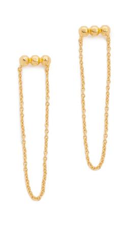 Gorjana Gold Rush Draped Stud Earrings - Gold