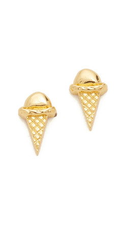 Gorjana Ice Cream Cone Stud Earrings - Gold