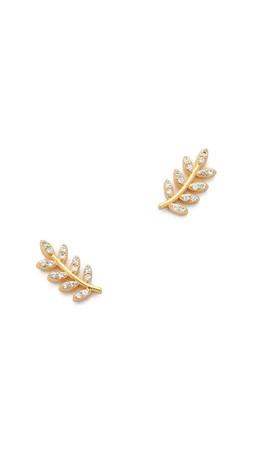 Gorjana Olympia Shimmer Stud Earrings - Gold/Clear