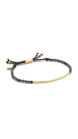 Gorjana Power Gemstone Bracelet For Confidence - Gold/Snowflake Obsidian