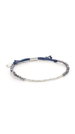 Gorjana Power Gemstone Bracelet For Healing - Iolite/Silver