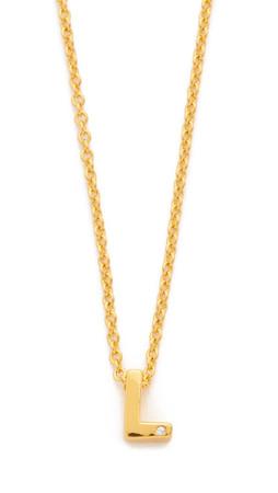 Gorjana Shimmer Block Letter Necklace - L