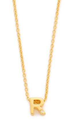 Gorjana Shimmer Block Letter Necklace - R