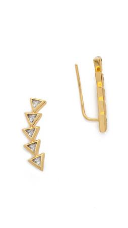 Gorjana Vivienne Ear Climbers - Gold/Clear