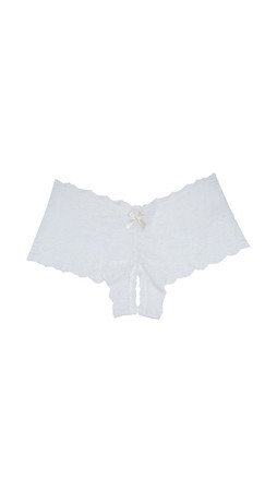 Hanky Panky After Midnight Peek-A-Boo Open Briefs - Ivory