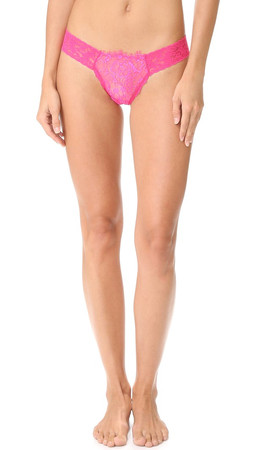 Hanky Panky After Midnight Wink Low Rise Diamond Thong - Tickle Pink