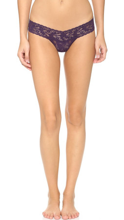 Hanky Panky Signature Lace Low Rise Thong - Fig