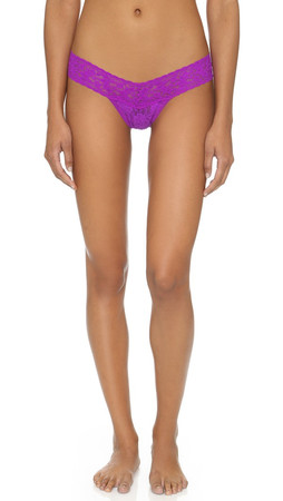 Hanky Panky Signature Lace Low Rise Thong - Hot Lilac