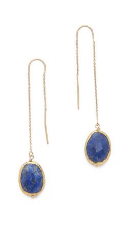 Heather Hawkins Threader Earrings - Gold/Blue