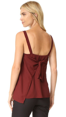 Helmut Lang Back Tie Closure Top - Pomegranate