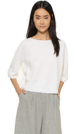 Helmut Lang Cashmere Crop Top - White
