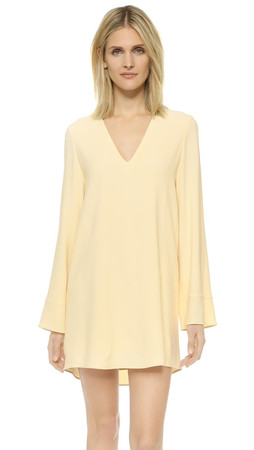 Helmut Lang Deep V Neck Dress - Cream