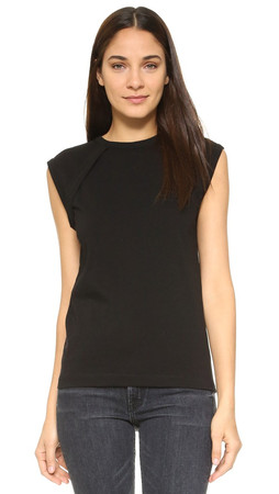 Helmut Lang Sleeveless Crew Neck T-Shirt - Black
