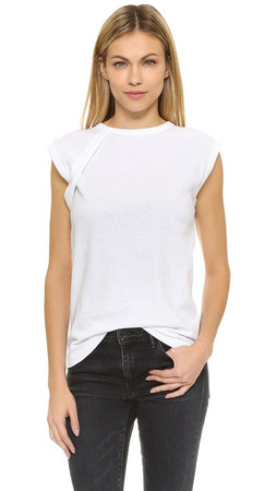 Helmut Lang Sleeveless Crew Neck T-Shirt - White