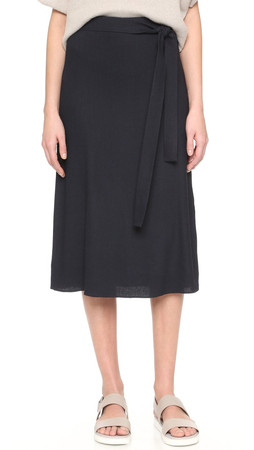 Helmut Lang Wrap Skirt - Navy