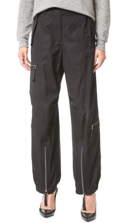 Helmut Lang Zip Detail Cargo Pants - Black