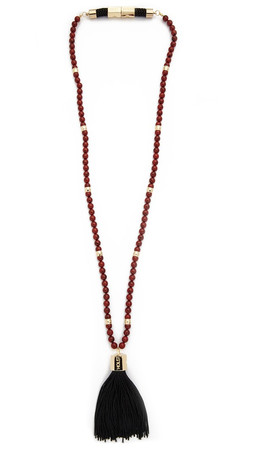 Holst + Lee Balinese Fire Tassel Necklace - Gold/Red