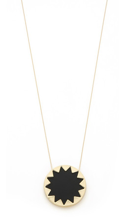 House Of Harlow 1960 Sunburst Pendant Necklace - Black