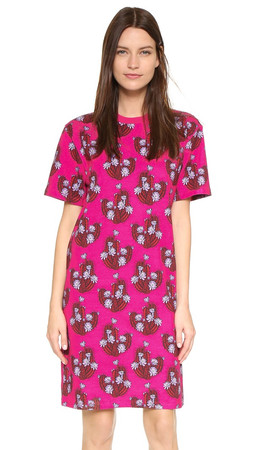 House Of Holland Cactus All Over T-Shirt Dress - Pink