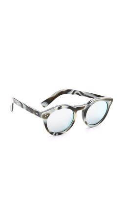 Illesteva Leonard Ii Mirrored Sunglasses - Horn/Silver