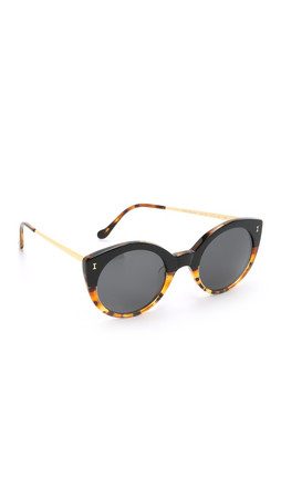 Illesteva Palm Beach Sunglasses - Half & Half Tortoise/Black