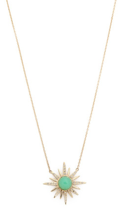 Jacquie Aiche Chrysoprase Starburst Necklace - Gold/Labradorite