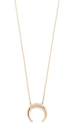 Jacquie Aiche Crescent Necklace - Gold/Clear