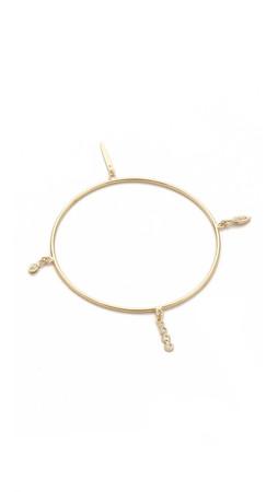 Jacquie Aiche Ja Charm Shaker Bangle Bracelet - Gold
