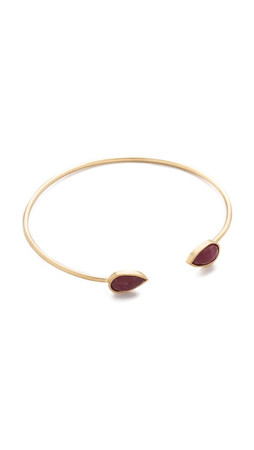 Jacquie Aiche Ja Double Teardrop Cuff Bracelet - Gold/Ruby